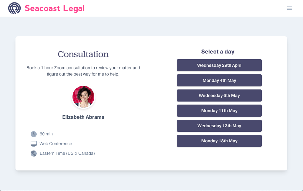 ClientRock is the easiest online scheduler for lawyers
